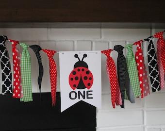 Ladybug Banner, Happy Birthday Banner, Ladybug Birthday Party, Ladybug Birthday Banner, Ladybug Banner, Ladybug Highchair Banner, Ladybug