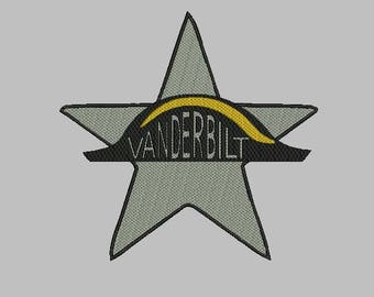 University of Vanderbilt machine embroidery design