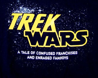 TREK WARS Scifi Parody Tshirt