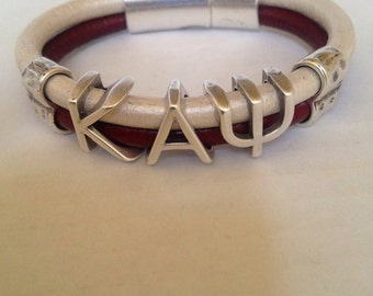 Kappa Alpha Psi leather bracelet