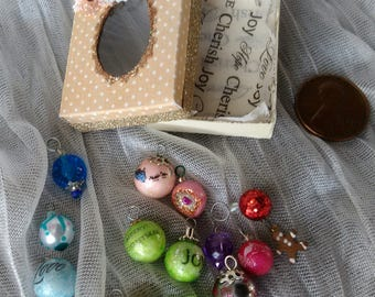 Miniature Christmas ornaments 1/12 scale OOAK by Mable Malley