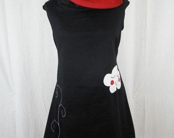 Kyriu red and black cloud dress