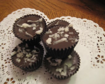 15 Toasted Coconut Peanut Butter Cups FREE SHIPPING