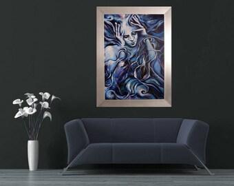 """Cuadro """"BLUE"""" realizado por Sandra Garcia"""
