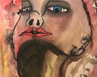Under Influence (pen&watercolor)