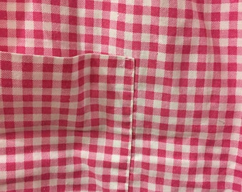 Vintage Sleeveless Pink Gingham Loose Fitting Dress Size Extra Large