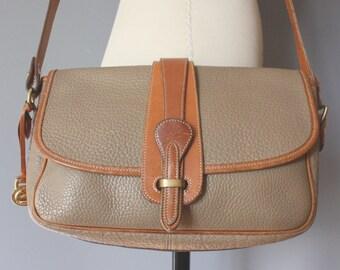 vintage dooney & bourke equestrian purse / front flap satchel