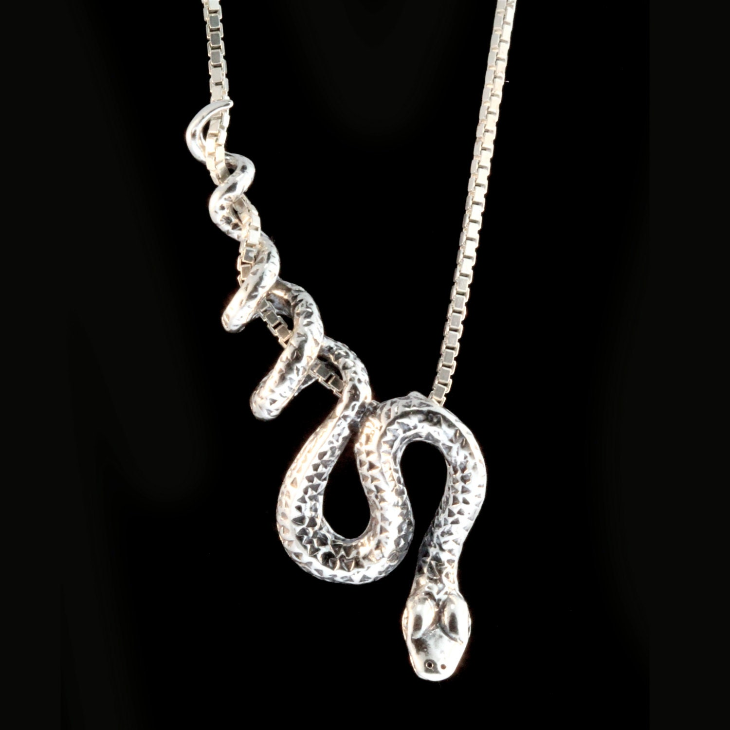 Snake necklace silver snake pendant snake jewelry serpent zoom aloadofball Image collections