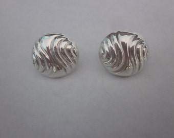 Large Swirled Sterling Silver Earrings, Made in Mexico