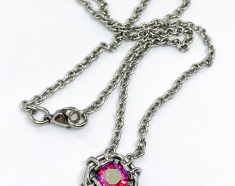 Conjure Chainmail Necklace with Swarovski Crystal