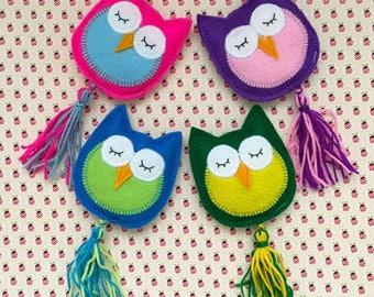 Felt Owl cat toys, cat gifts, stocking stuffers, fun toys, kid toys