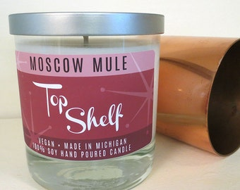Moscow Mule Soy Candle - Top Shelf Collection - Low Ball Tumbler