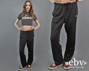 Adidas Pants Adidas Track Pants 90s Track Pants y2K Track Pants Adidas Striped Pants Gym Pants 90s Pants Black Adidas Pants 1990s Pants M