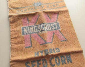vintage northrup kingscrost seed corn sack