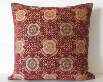Richloom Marlena Ikat Orange Light Gray Decorative Pillow