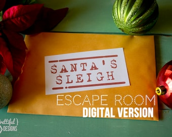 Christmas Escape Room Type of Challenge Game Family Game At Home Challenge - Large Group Digital Edition