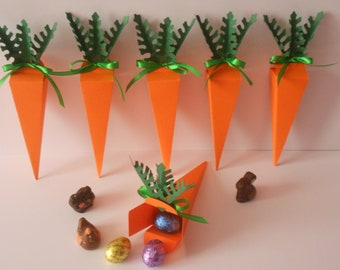 6 carrot Easter chocolate boxes