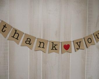 Thank You Banner . Wedding Banner . Wedding Photos . Wedding Photo Prop . Customized . Custom Color Choices