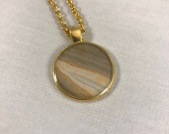Abstract Neutral Pendant