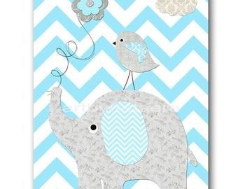 INSTANT Elephant DOWNLOAD Print Baby Nursery Decor Nursery Digital Print Baby Boy Nursery Art Printable Art Digital Download Art 8x10 11X14