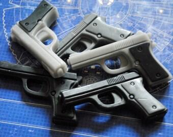 Gun Soap x 6 - Gun, Pistol, Police Officer, Father's Day Gift, Man Soap
