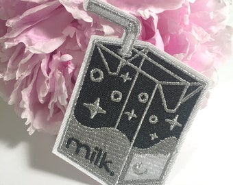 "milk-to-go | 3"" embroidered patch"
