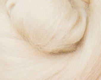 16 Micron ExtraSuperfine Merino Wool Top - Nougat - 4 ounces