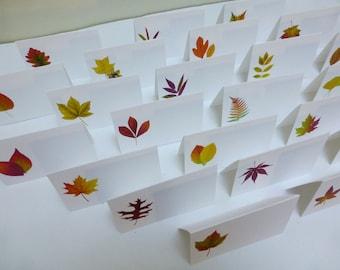 Autumn Leaf Place Cards, Autumn Leaf Placecards, Autumn Wedding Place Cards, Thanksgiving , Autumn Fall Event, Harvest Table Card A109