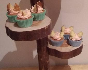Tree Log Cake Stand