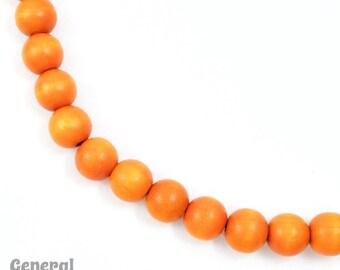 10mm Orange Wood Bead (50 Pcs) #DXL001