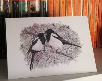 Two For Joy A5 Valentines or Blank Greetings card