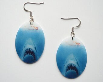 Jaws Earrings, Horror Jewelry, Nickel Free