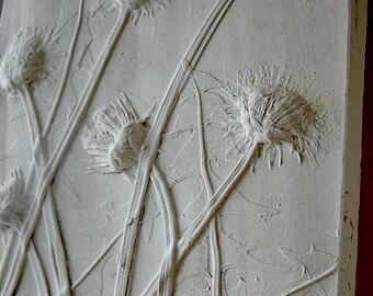 Decorative Tile - Dandelion - Botanical - Plaster Casting - Scotland