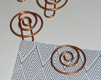 Swirl Rose Gold Paper Clips, Office Home School Supplies, Bookmark, Planner, Journaling, DIY Craft