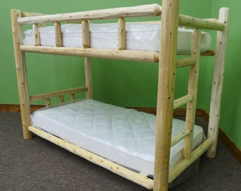 Handcrafted Log Bunk Bed
