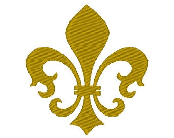 Gold Fleur de lis fill designs, many mini sizes (.pes .hus .dst .vp3 .vip .xxx .exp .jef)  - embroidery fillstitch embroidery design
