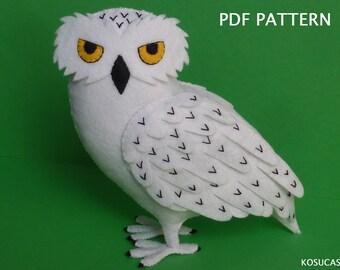 PDF pattern to make a felt Owl.