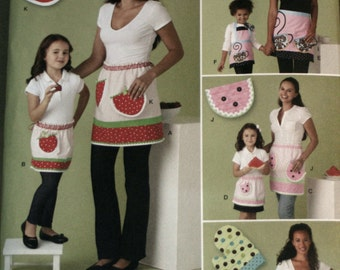 Simplicity 2276 Child and Misses Apron Sewing Pattern New/Uncut
