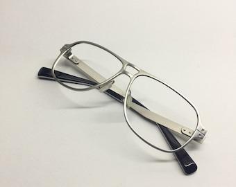 Retro Aviator style Silver Nike Eyewear Frames