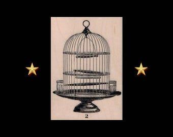 BIRD CAGE Rubber Stamp, Victorian, Antique Bird Cage, Bird Cage Stamp, Decorative Bird Cage, Bird Lover Gift, Steampunk Bird Cage Stamp