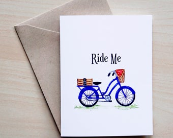 Adult Funny Card - Ride Me