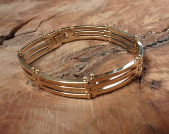 Triple Row Gold Plated Bracelet