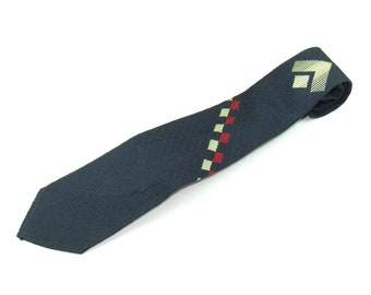 Mens Vintage Brooks Brothers Neck Tie Times Square Early Circa 1950