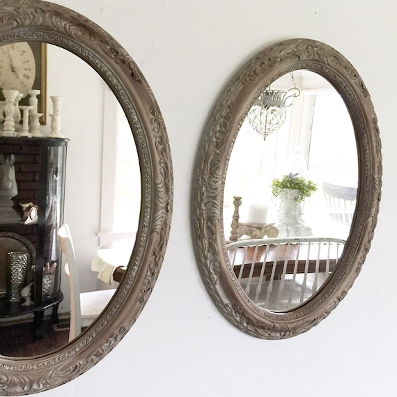Large Oval Mirrors Double Vanity Bathroom Mirror French