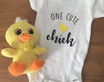 One Cute Chick Baby Onesie