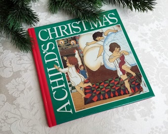 Winterthur's A Child's Christmas Book 1989 Vintage Hardcover By Galison Books, DuPont Winterthur Museum Art Book RARE