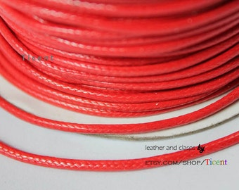 Sale 100 Yards/Roll 2mm Red Wax Cords, Environmental Protection Wax Cords WS214
