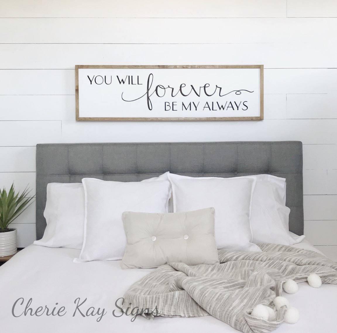 Framed sign where you go I will go bedroom wall decor