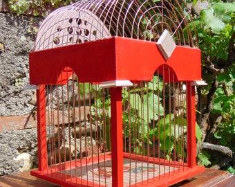 Decor - antique Ornamental birdcage bird cage