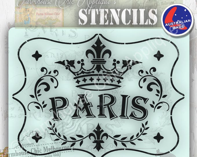 Create beautiful projects! French Vintage Stencil, Artist Stencil, Cake Stencil, Furniture Decoration, Wall Stencil. Mylar Paris Stencil